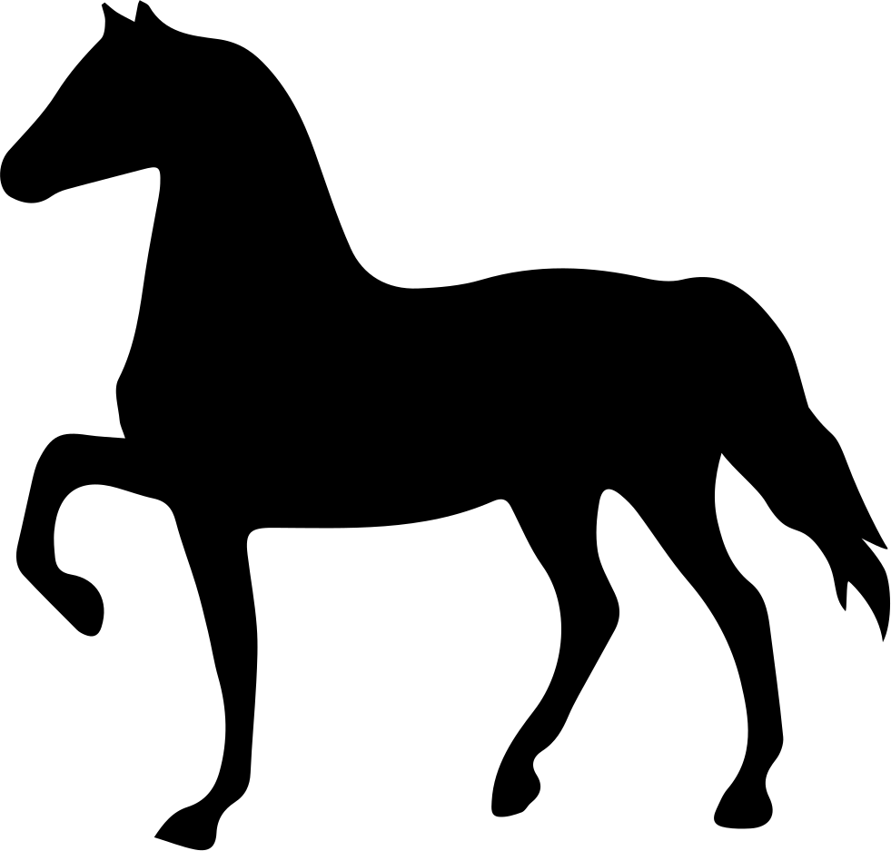 Horse Black Shape Facing To Left
