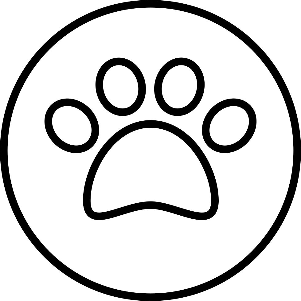 Pawprint Outline In A Circle