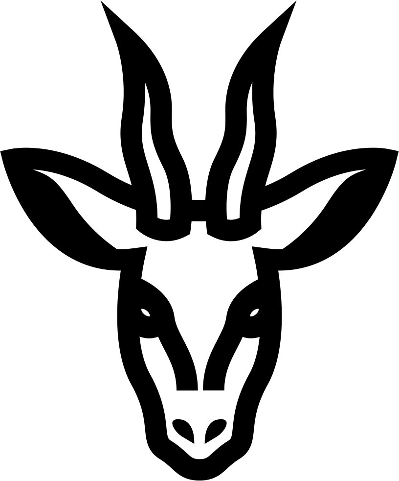 Deer Head Frontal Outline