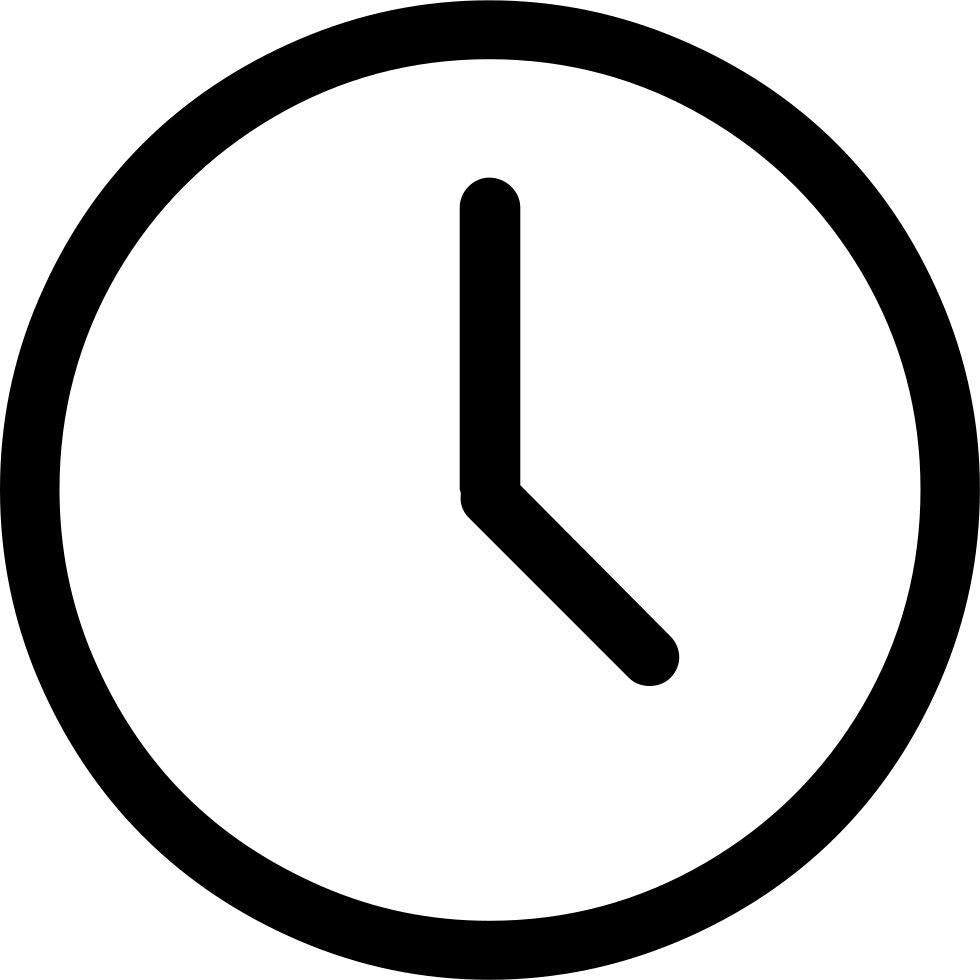 Clock Svg Png Icon Free Download (#7412) - OnlineWebFonts.COM