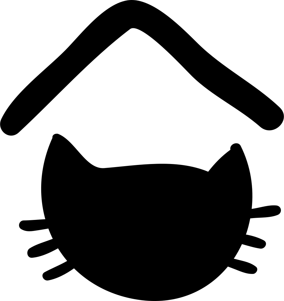 Pet Hotel Sign With Cat Head Silhouette