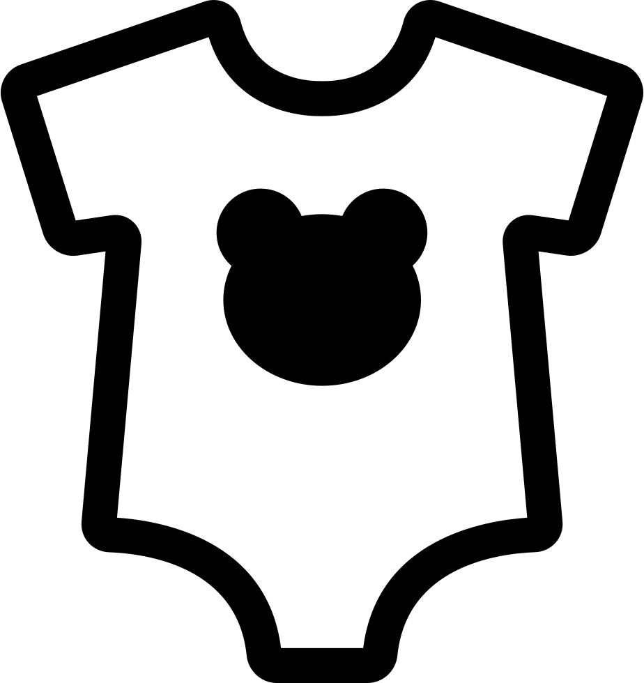 Baby Dummy With Bear Head Silhouette