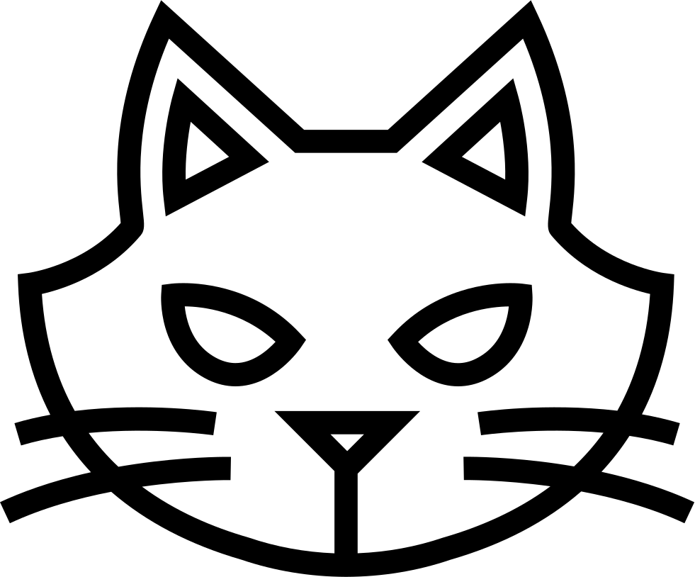 Halloween Cat Face Outline
