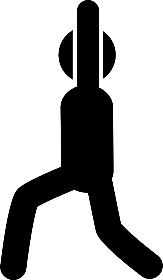 Man Exercise Posture From Side View With Rised Arms