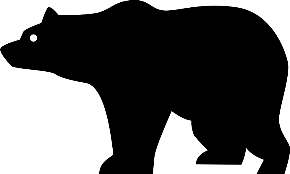 Bear Side View Silhouette