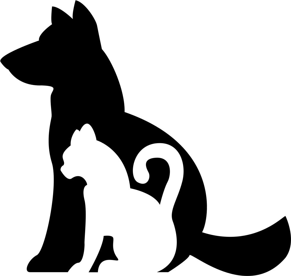 Dog And Cat Silhouettes Together