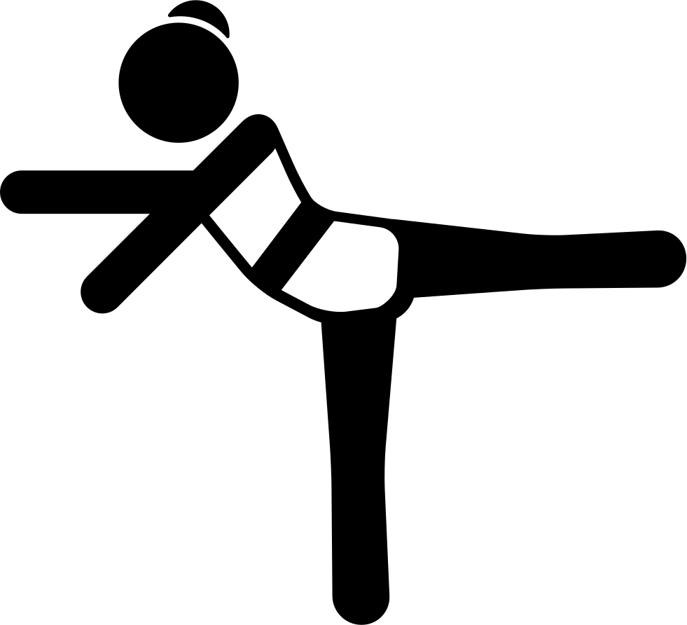 Girl Stretching Left Leg And Arms