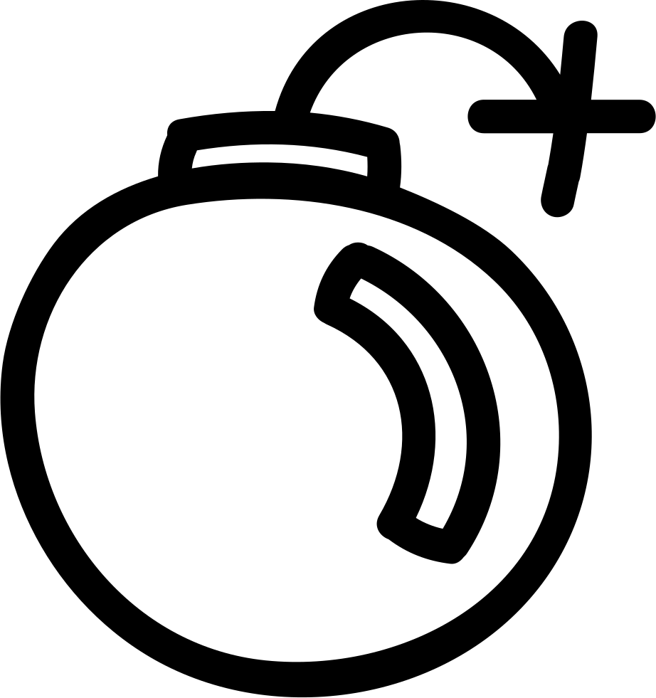 Bomb Hand Drawn Interface Symbol Outline