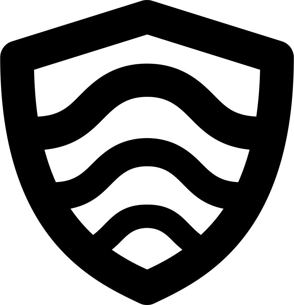 Shield With Curved Lines