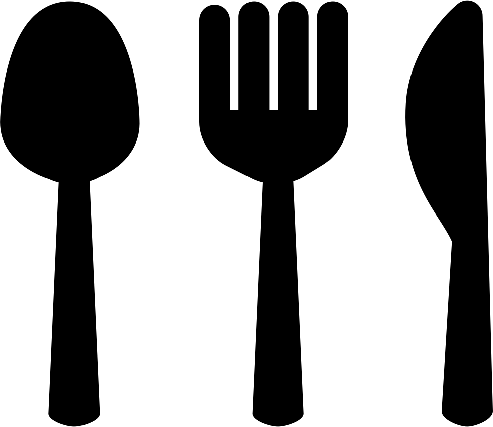 Spoon Fork And Knive Silhouettes Restaurant Symbol Svg Png
