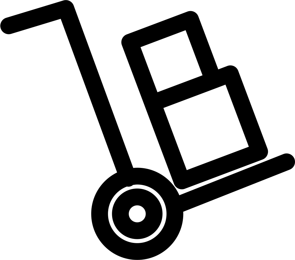 trolley push cart with boxes svg png icon free download