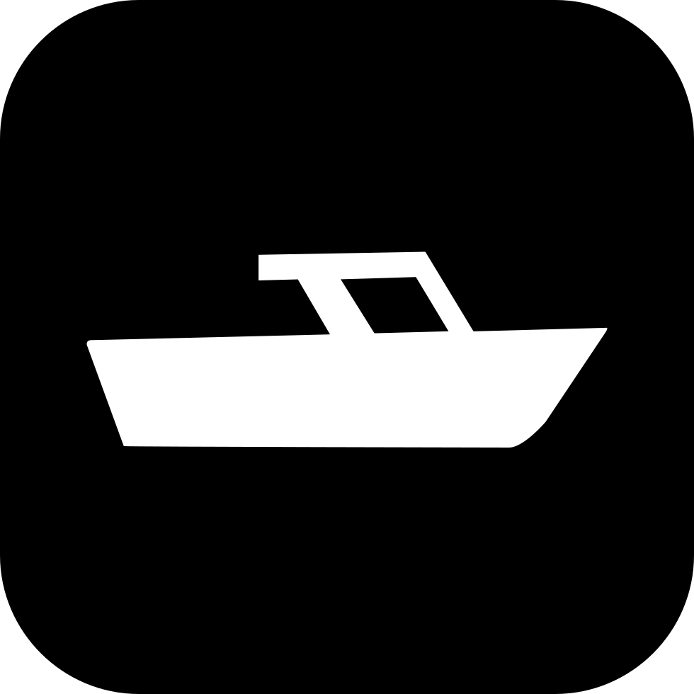 Boat Inside A Rounded Square