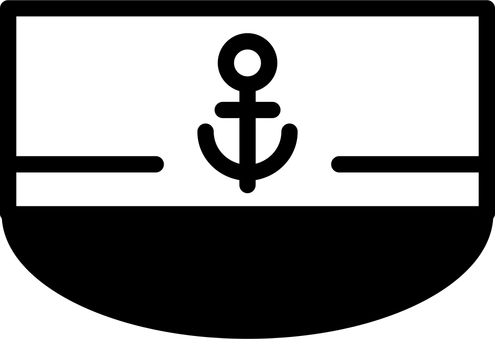 Boat Front View With Anchor Sign