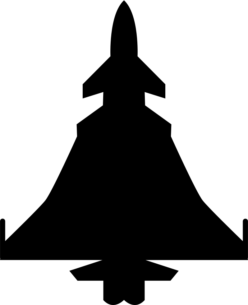 Army Airplane Silhouette