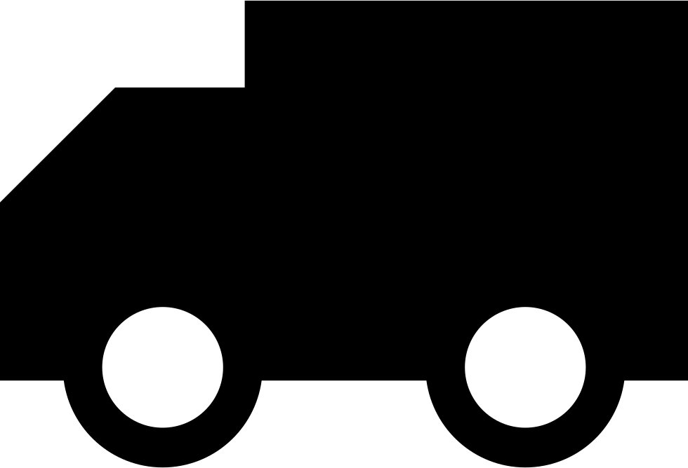 Truck Silhouette Facing The Left Direction