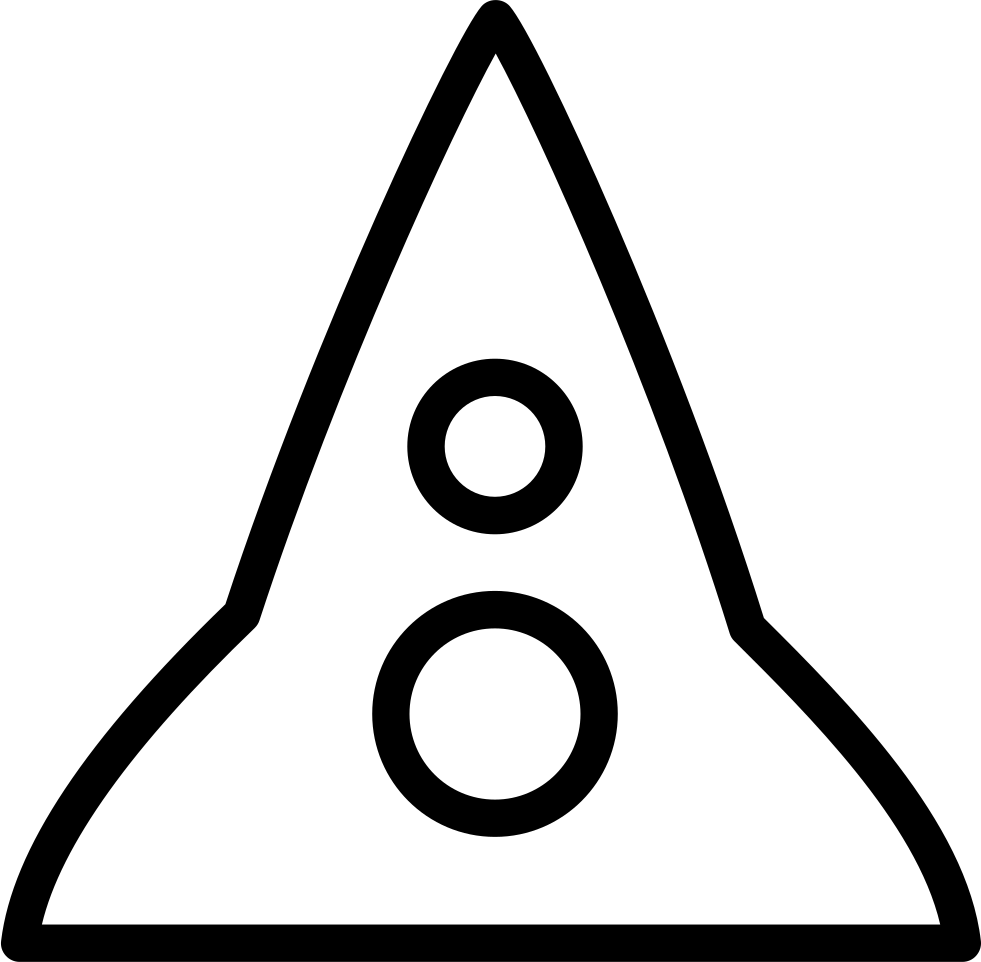 Triangular Rocket Outline Symbol