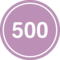 500 In A Black Circle With An Outline