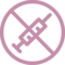 Syringe Prohibition Sign Outline Variant