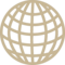 Earth Grid Circular Symbol
