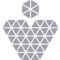 Heart Pendant Of Small Triangles