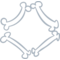 Halloween Rhomb Or Diamond Of Bones Outline
