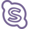 Skype Hand Drawn Logo Outline