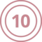Number Ten Coin Chip Money