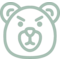Bear Animal Head Angry