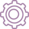 Settings Gear Symbol Outline In A Circle