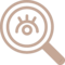Search Interface Symbol Of A Magnifier With An Eye Inside