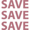Shopping Save Sign