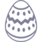 Easter Egg Of White Chocolate With Dark Lines And Dots Decoration