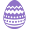 Easter Egg With Different Lines Design