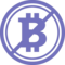 Bitcoin Not Accepted Symbol With A Slash