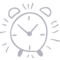 Alarm Clock Hand Drawn Outline