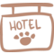 Pets Hotel Signal With A Paw